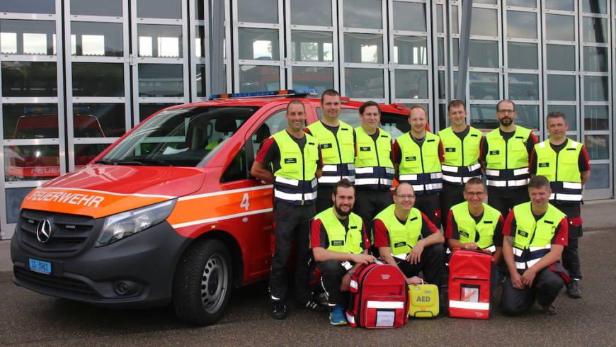 Unterstützung Rettungsdienst AED